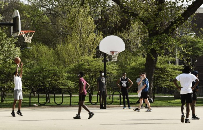 Picture of a Basketball Playground.